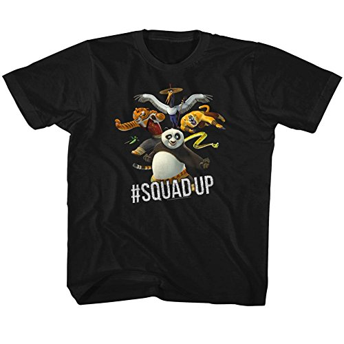 American Classics Kung Fu Panda Movie Squad up Black Toddler Little Boys T-Shirt Tee