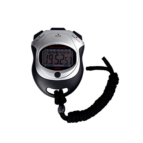 SCGK Multi function Electronic Sports Stopwatch Timer,Professional Handheld Timer,Large Display with Date Time and Alarm Function,Ideal for Sports Coaches Fitness Coaches and Referees