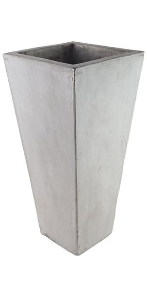 TERAMICO UNIQUE 4er SET Leichtbeton Vase Blumentopf Pflanzgefäß ...