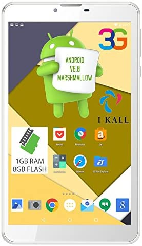 Ikall N9 Tablet (10.1 inch, 8GB, WiFi + 3G + Voice Calling), White Computers & Accessories at amazon
