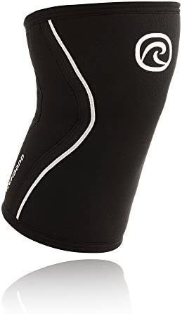 Rehband Rx Knee Support 5mm - Medium - Black - Expand Your Movement + Cross Training Potential - Knee Sleeve for Fitness - Feel Stronger + More Secure - Relieve Strain - 1 Sleeve