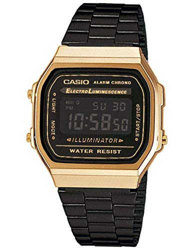 Casio Collection Unisex Adults Watch A168WEGB-1BEF ()