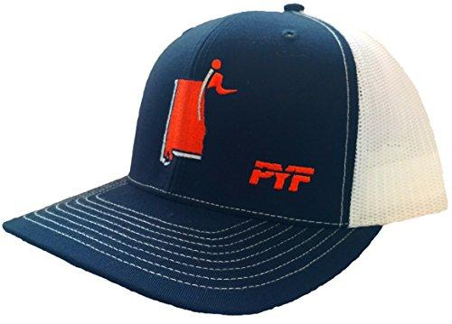 Plant Your Flag - PYF - CXII Meshback Hat - Auburn Alabama (Orange State/Navy-White)