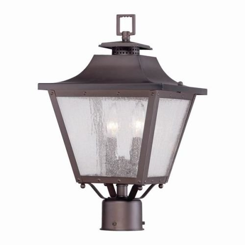 Acclaim 8717ABZ Lafayette Collection 2-Light Post Mount Outdoor Light Fixture, Architectural Bronze by Acclaim