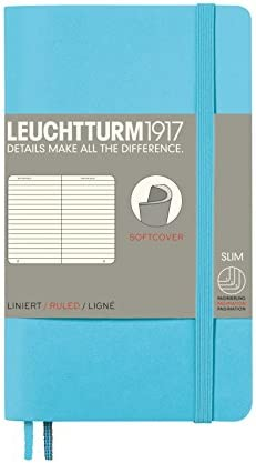 LEUCHTTURM1917 311346 Notizbuch Pocket (A6), Softcover, 123 nummerierte Seiten, dotted, Schwarz