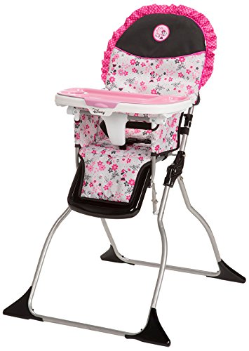Disney Baby Minnie Mouse Simple Fold Plus High Chair with 3-Position Tray (Garden - Grow Chair High Easy