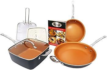 Gotham Steel 7-Pc. Cookware Set Titanium Ceramic Pan