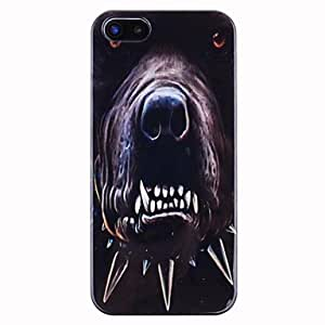 GJY Evil Dog Pattern ABS Back Case for iPhone 5/5S