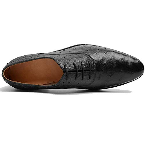 Goodyear Round Stringate Inverno Scarpe Leather Shoes Trend Head Business Black Comfort 0qnn6pZH