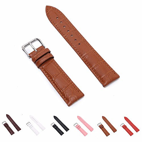 STYLELOVER+Leather+Watch+Band%2C+Genuine+Cowhide+Replacement+Watch+Strap+for+Men+and+Women+22mm+Light+Brown