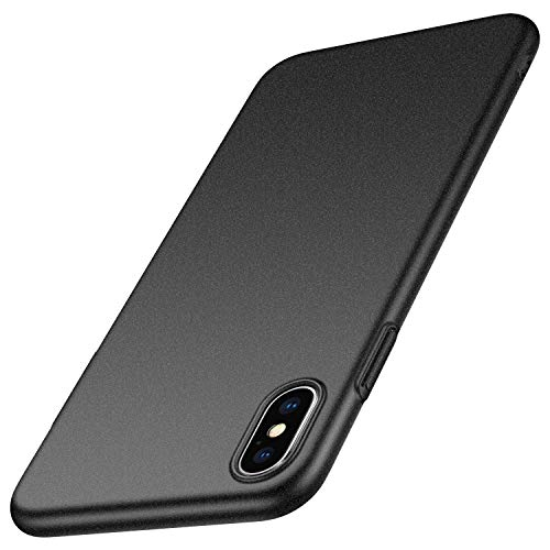 anccer Compatible for iPhone Xs Max Case Colorful Series Ultra-Thin Fit Premium Material Slim Cover for Apple iPhone Xs Max 6.5 inch (Gravel Black)