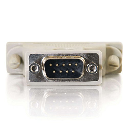 C2G 02449 DB9 Male to DB25 Female Serial RS232 Serial Adapter, Beige