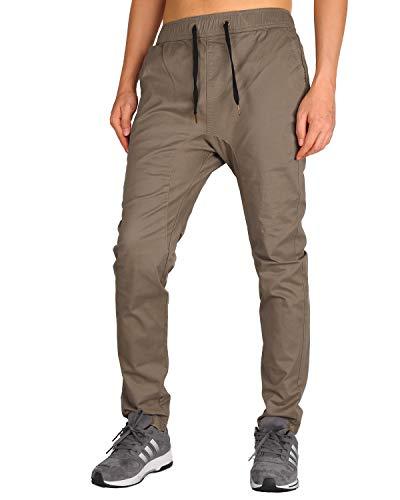 (THE AWOKEN Men 's Fashion Khakis Jogger Chino Loose Trousers (Timber Khaki, XL))