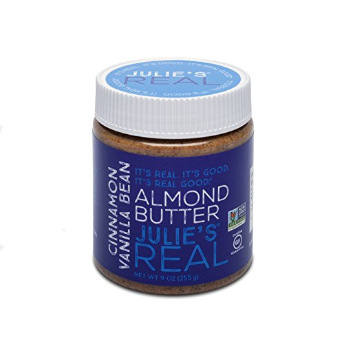 Almond Sugar Free Butter - Julie's Real Smooth Cinnamon Vanilla Almond Butter - Gluten-free, Paleo, Peanut-free, Non-GMO - 9 oz
