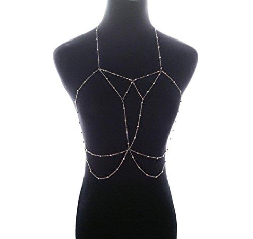 Kaxu Women Sexy Body Chain Nightclub Party Bikini Bra Beach Necklace - Swimwear Alloy
