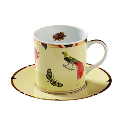 Lynn Chase Designs Exotica Coffee Mug and Saucer (Lynn Chase Designs)
