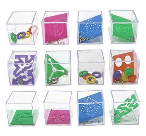 Mind Teaser Puzzle Cube Toys - Puzzle Games for Party Favors, Goody Bags, and Prizes - 1.5 Inch Educational Stress Relief Toys (1 Dozen) ()