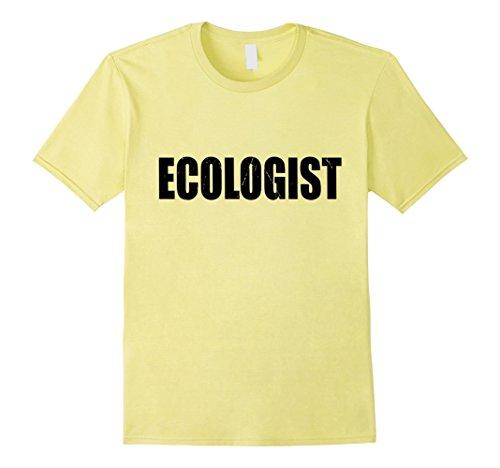Ecologist Costume (Mens Ecologist T Shirt Halloween Costume Funny Cute Distressed Medium Lemon)