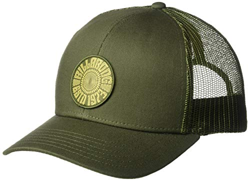 - Billabong Men's Walled Trucker Hat Olive One Size