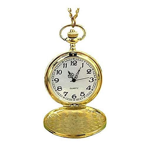 MAGQOO Classic Smooth Full Hunter Pocket Watch with 31.5