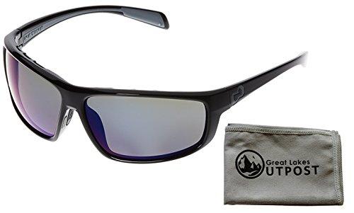 Native Eyewear Bigfork, Gloss Black Sunglasses With Blue Reflex Lenses and - Polarized Bigfork Eyewear Sunglasses Native