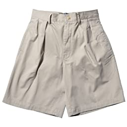 Polo Ralph Lauren Men\'s Classic Pleated Chino Tyler Shorts (30, Beige)