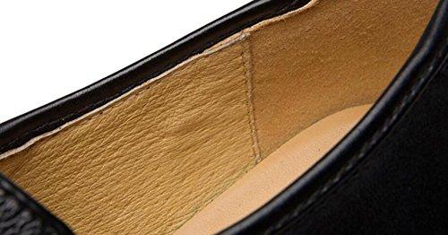 Véritable Black Chaussures en Respirant Chaussures Hommes Cuir Fashion LEDLFIE Cuir Business Chaussures en Casual FxtOw