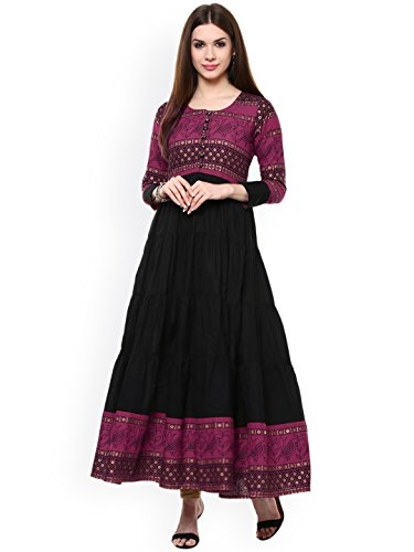 Dream Angel Fashion Women Dress Kurti Bollywood Designer Printed Anarkali Suit Kurta Ready to Wear (Small -34, Purple)