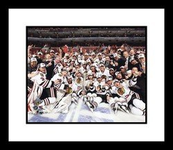2010 Chicago Blackhawks NHL Framed 8x10 Photograph Stanley Cup Champions Team Celebration