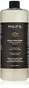 PHILIP B Gentle and Conditioning Shampoo, African Shea Butter, 32 fl. oz.