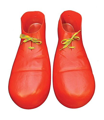 Jumbo Adult Red Clown Shoes (Plastic Red Clown Shoes 16 in)