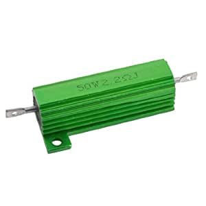 Resistor 50 W bombilla 2,2 Ohm bobinadas resistencia carcasa de aluminio
