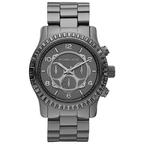Michael Kors Runway Chronograph Gunmetal Oversized Unisex Watch MK5542
