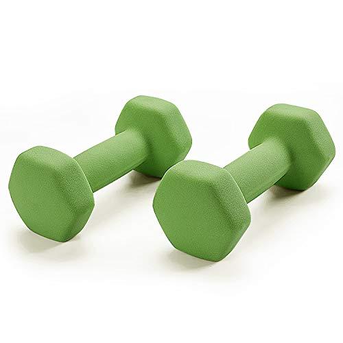 Portzon Set of 2 Neoprene Dumbbell Hand Weights, Anti-Slip, Anti-roll