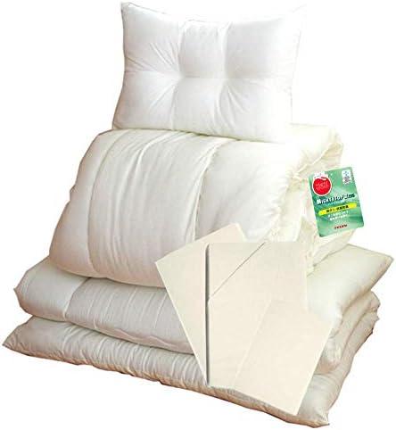 EiYU이 불 6 점 세트 일본 스틸 테 이진 단단한 면 3 층 항균 방 취 방 진드기 가공 상 커버 형 싱글 / EiYU Futon 6 Pieces Set Japanese Teijin Solid Cotton 3 Layers Antibacterial Deodorant Anti-Mite Processing With Ivory Cover Single