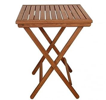 Beistelltisch Klapptisch Gartentisch dunkel Buche Holz klappbar 10-350 D