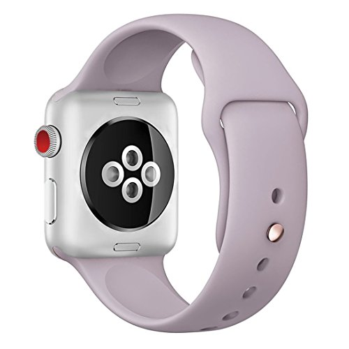 Apple Watch Band 38mm,Fendy Soft Silicone iWatch Sport Band for Apple Watch Series 3,Series 2,Series 1,Sport & Edition,Lavender