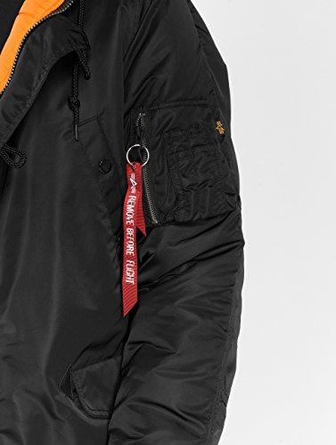 Alpha Alpha 8XntPqf for snow Abrigo Negro Para Hombre Abrigo qUfaaz