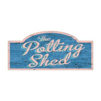 Past Time Signs RPC357 The Potting Shed Home And Garden Metal Street Sign