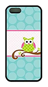 Cartoon Owl Theme Iphone 5 5S Case TPU Material