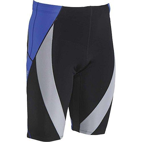 Endurance Short Tight - CW-X Endurance Generator Shorts, Black/Grey/Blue, Large