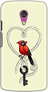 DailyObjects Key To Love Bird Case For Motorola Moto G2
