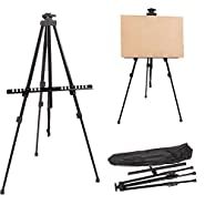 Display Stand Adjustable Tripod Easel Sketch & Painting Artist Board Drawing Art Exhibition Studio Folding, Bag
