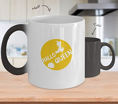 Color Changing Mug HalloQueen Halloween Witch Funny Halloween 2017 Heat Colour Change Mug -