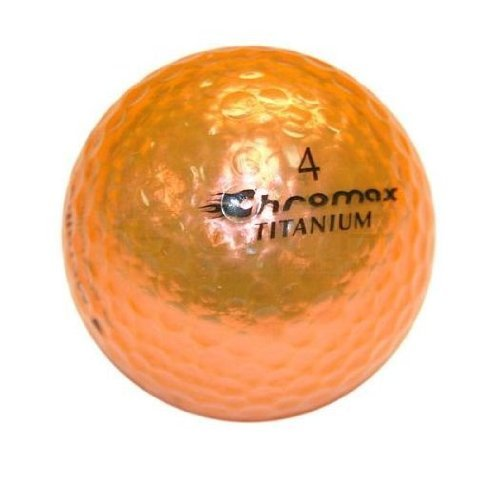 Pro Active Golf Chromax M1 Golf Ball Orange Shiny 3 Balls Sleeve by Pro Active