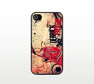 Derrick Rose iPhone 5 5s Case - Cool Black Plastic Snap-On Cover - Basketball Design
