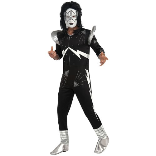 Kiss The Spaceman Costume, Black, X-Large