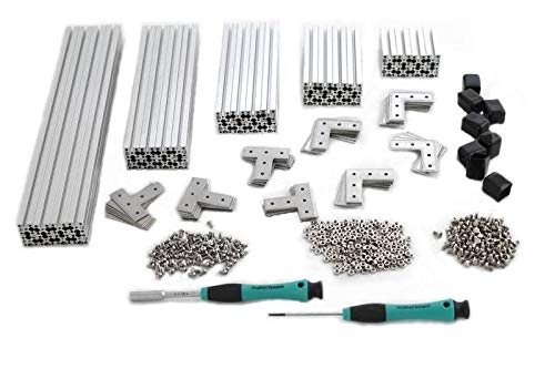 (MakerBeam XL Regular Starter Kit Clear Anodized Including Beams (15x15mm), Brackets, Nuts and Bolts)