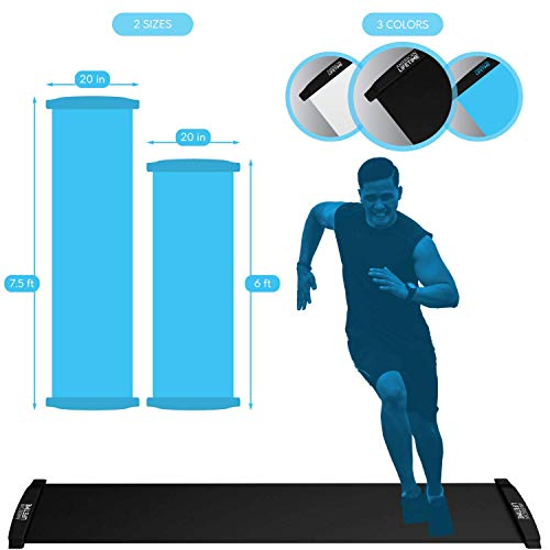 (American Lifetime Slide Board Workout Board 6ft Sports Fitness Training and Therapy Board with Shoe Booties and Carrying Bag Included)