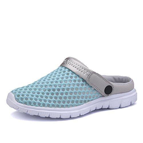 Vnfire Män Kvinnor Halkfri Andas Mesh Netto Tofflor Sandaler Idrott Skor Sommar Sneakers Blå-1